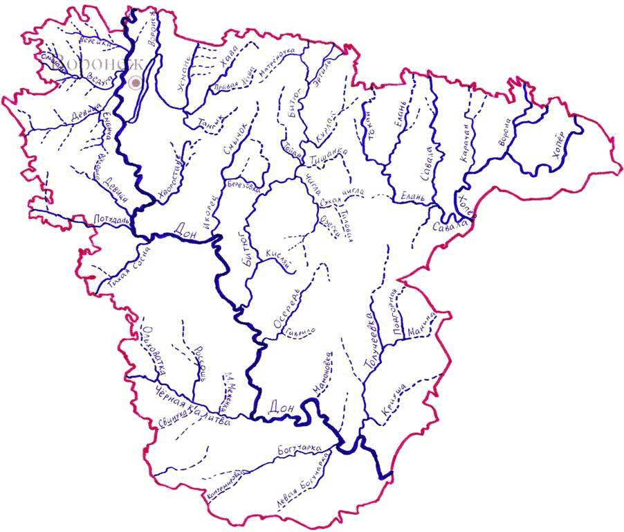 Схема рек и временных